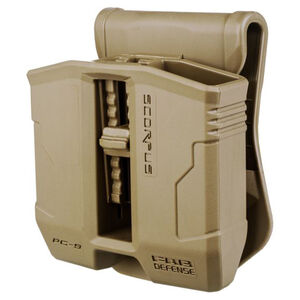 FAB Defense PS-9 Double Mag Pouch For Steel 9mm/.40 S&W Magazines FDE