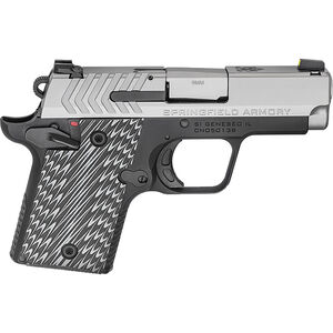 """Springfield 911 9mm  Semi Auto Pistol 3"""" Barrel 7 Rounds Stainless Slide Anodized Frame G10 Grips"""