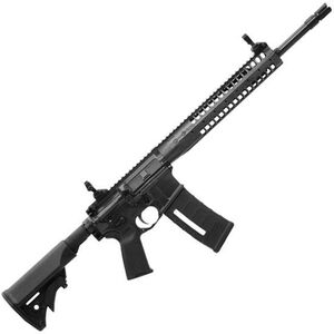 "LWRC Six8 SPR AR-15 Semi Auto Rifle 6.8mm SPC 16"" Barrel Gas Piston LWRC Flash Hider Modular Rail Compact Stock Skirmish Sights Black SIX8RB16SPR"