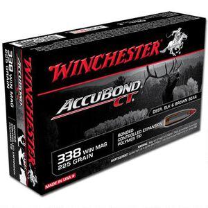 Winchester .338 Winchester Magnum Ammunition 20 Rounds Nosler Accubond 225 Grains