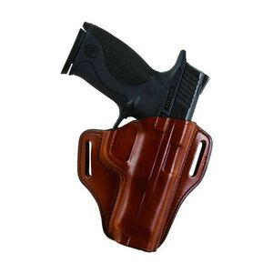 """Bianchi Model 57 Remedy Holster 1.5"""" Belt S&W M&P9c Right Hand Leather Plain Tan 25048"""