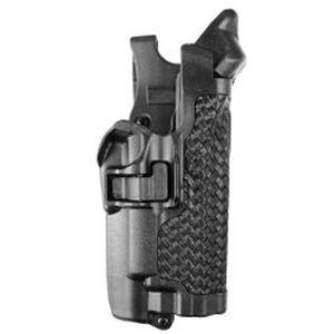 BLACKHAWK! Serpa Beretta 92/96 Level 3 Auto Lock Duty Holster Polymer Right Hand Basketweave Black 44H104BW-R