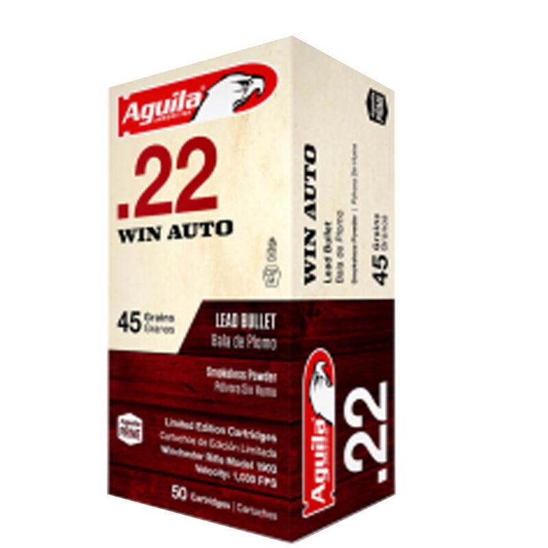 Aguila Limited Edition Ammunition .22 Win Auto 50 Rounds 45 Grain Lead Bullet 1030fps