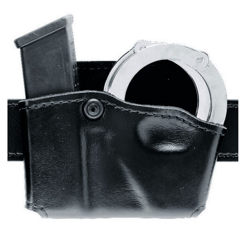 Safariland Model 573 Open Top Magazine and Handcuff Pouch for Beretta 90 Two Left Handed STX Tactical Finish Black 573-83-132