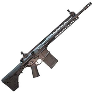 """LWRC R.E.P.R MKII Semi Auto Rifle 7.62 NATO 16"""" Spiral Fluted Barrel 20 Rounds Free Float Hand Guard Magpul Stock and Grip Black"""