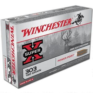 Winchester Super X .303 British Ammunition 200 Rounds JSP 180 Grains X303B1