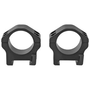 "Warne Maxima Horizontal Fixed Attach Weaver/Picatinny Style Scope Ring 1"" Tube Low Height Matte Black Finish"