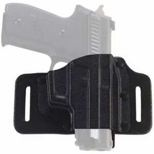 Galco TacSlide Springfield XD and XDm 9mm and .40 S&W Belt Holster Leather/Kydex Right Hand Black TS440B