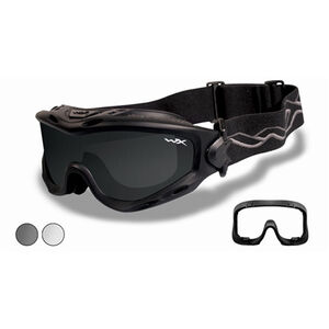 Wiley X - Spear Goggle Size Medium to XX-Large Matte Black Smoke Grey/Clear