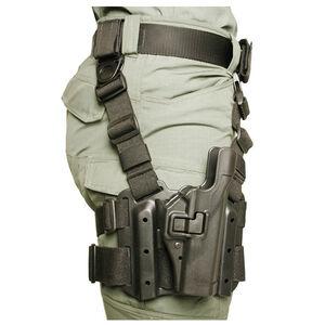 BLACKHAWK! SERPA GLOCK 17, 19, 22, 23, 31, 32 Level 2 Tactical Holster Polymer/Nylon Left Hand Black 430500BK-L
