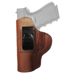 Tagua Gun Leather Super Soft S&W M&P Shield Inside Waistband Holster Leather Left Hand Black SOFT-1011