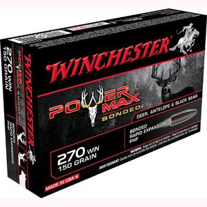 Winchester Power Max .270 Win Ammunition 20 Rounds, PHP, 150 Grains