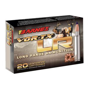 Barnes VOR-TX Long Range 6.5 Creedmoor Ammunition 20 Rounds 127 Grain LRX Boat Tail Lead Free 2825fps