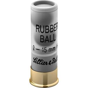 """Sellier & Bellot Rubber Ball 12 Gauge Ammunition 25 Rounds 2 3/4"""" 2 Ball 15mm SB12RBB"""