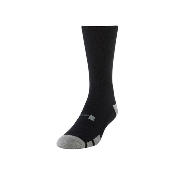 Under Armour UA Resistor III Crew Youth Sock Polyester/Spandex Youth Large 6 Pack Black