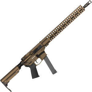 "CMMG Resolute 300 MkGs 9mm Luger AR-15 Semi Auto Rifle 16"" Barrel 33 Rounds Uses GLOCK Style Magazines RML15 M-LOK Handguard RipStock Collapsible Stock Midnight Bronze Finish"