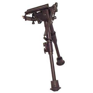 "Harris Ultra-light Bench Rest Bipod S-BR Swivel/Sling Swivel Stud Mount 6"" to 9"" Telescoping/Folding Legs Aluminum Matte Black"