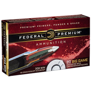 Federal .308 Winchester Ammunition 20 Rounds Nosler Accubond 165 Grains