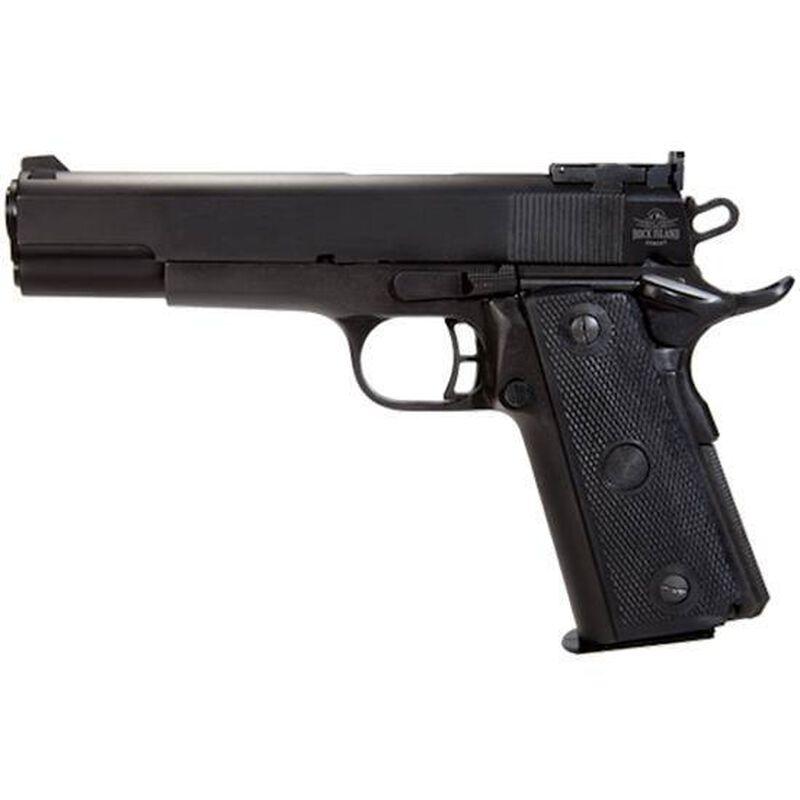 "Rock Island Armory TCM 22 Target 1911 Semi Auto Handgun .22 TCM / 9mm Luger Conversion 5"" Barrel 17 Rounds Parkerized Steel Frame Polymer Grips Black 51680"