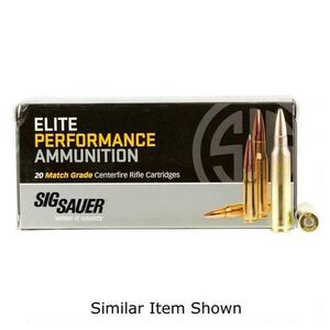 SIG Sauer Elite Performance Varmint and Predator .22-250 Remington Ammunition 20 Rounds 40 Grain Tipped Hollow Point 3975fps