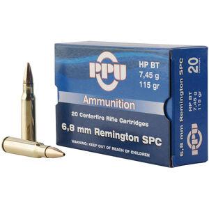 Prvi Partizan PPU Metric 6.8 SPC Ammunition 20 Rounds 115 Grain HPBT 2624fps