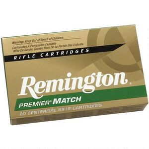 Remington Premier Match .260 Remington Ammunition 20 Rounds 140 Grain Open Tip Match Boat Tail Projectile
