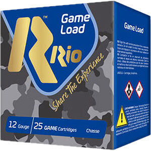 "RIO Ammunition Super Game HV Load 12 Gauge Ammunition 2-3/4"" Shell #8 Lead Shot 1-1/8oz 1280fps"