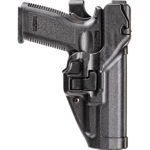 BLACKHAWK! SERPA Level 3 Duty Belt Holster Fits SIG P320 Full Size Right Hand Polymer Matte Black