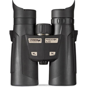 Steiner Predator842 Binoculars 8x42mm Lightweight Roof Prism Makrolon Housing NBR Rubber Armor Black