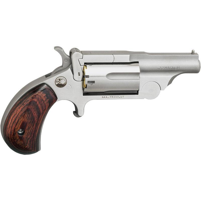 "North American Arms Ranger II .22 WMR Mini-Revolver 1.625"" Barrel 5 Round Break Action Cylinder Bead Blast Stainless Steel Finish"