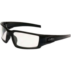 Hypershock Shooter's Safety Glasses Clear Lenses with Uvextreme and Anti-Fog Coating Black Polymer Frame Comfort Molded Temple