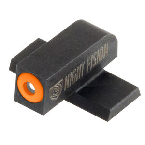 Night Fision Perfect Dot Tritium Front Sight Only Springfield XD/XD(M)/XD Mod 2/XD-S/XD-E Front Sight Green Tritium Front Orange Outline Metal Body Black Nitride Finish