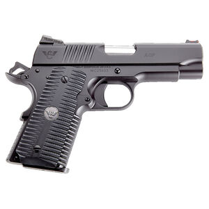 "Wilson Combat ACP Compact 9mm Luger Semi Auto Pistol 4"" Barrel 8 Rounds G10 Eagle Claw Grip Carbon Steel Armor-Tuff Black Finish"