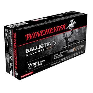 Winchester Ballistic Silvertip 7mm Winchester Short Magnum Ammunition 140 Grain Ballistic Silvertip 3225fps