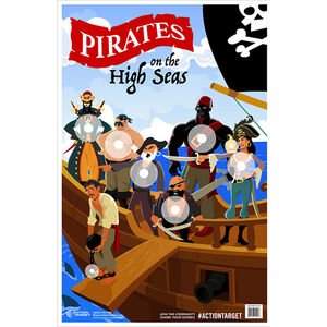 """Action Target Pirates Paper Target 23""""x35"""" 100 Count"""