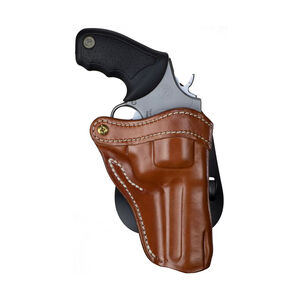 1791 Gunleather Paddle Holster Revolver 2 for S&W K/L Frame Right Hand Classic Brown Leather