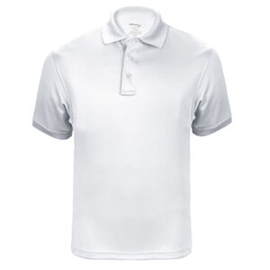 Elbeco UFX Tactical Polo Men's Short Sleeve Polo Large 100% Polyester Swiss Pique Knit White