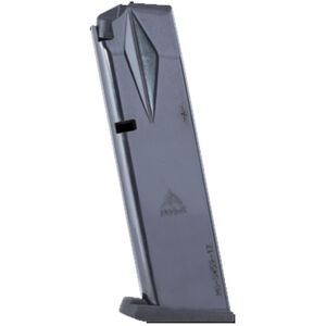 Mec-Gar Smith & Wesson 5900 Series/915/910/659 Magazine 9mm Luger 17 Round Capacity Steel Tube Polymer Floor Plate Blued