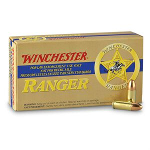 Winchester Ranger 9mm +P Reduced Lead Ammunition 50 Rounds FMJE 124 Grain