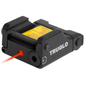 TRUGLO Micro Tac Tactical Micro Red Laser 2x LR626 Batteries Picatinny Mount Aluminum Black TG7630R