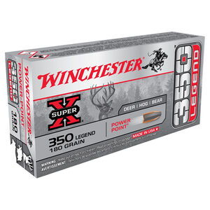 Winchester Super X .350 Legend Ammunition 20 Rounds 180 Grain Power Point Projectile 2100fps