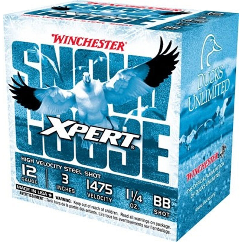 """Winchester USA Xpert Snow Goose 12 Gauge Ammunition 25 Rounds 3"""" Shell #BB Steel Shot 1-1/4oz 1475fps"""
