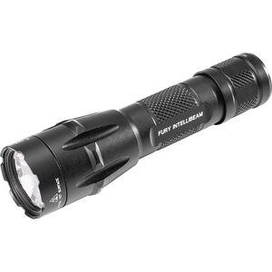 SureFire Fury IntellibBeam 1500 Lumen LED Flashlight Tail Cap Switch Duel Fuel CR123A/18650 Rechargeable Aluminum Black
