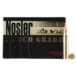 Nosler Match Grade .300 Winchester Magnum Ammunition 20 Rounds 210 Grain RDF Match Grade Hollow Point Boat Tail Projectile