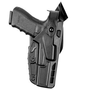 Safariland 7280 SLS Mid-Ride Level II Retention Duty Holster GLOCK 17/22/31 Right Hand STX Tactical Finish Black 7280-83-411