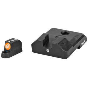 XS Sight Systems F8 Night Sights CZ P10 Green Tritium Front with Orange Ring/Green Tritium Rear Metal Housing Matte Black Finish