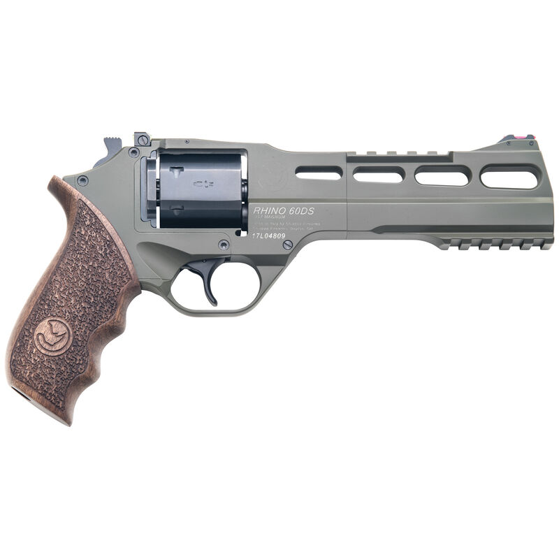 "Chiappa Rhino 60DS Double Action Revolver .357 Magnum 6"" Barrel 6 Rounds Aluminum Alloy Frame Wood Grips OD Green Finish"