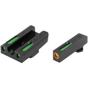 TRUGLO TFX Pro Front and Rear Set Green TFO Night Sights For GLOCK 42/43 Orange Ring Steel Black TG13GL3PC