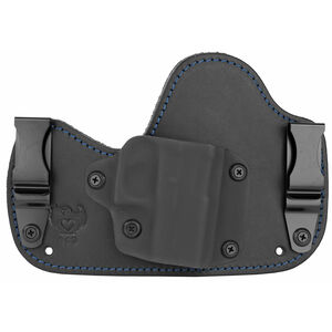 Flashbang Capone Inside the Waistband Holster for SIG Sauer P365 Right Hand Draw Black Kydex Shell/Black Leather Body/Black Suede Backing