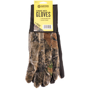 Hunter Specialties Mesh Glove With Grip Palm One Size Fits Most Realtree Edge Camouflage